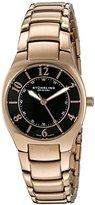 Stuhrling Original Women's 112L.12441 Classic Ascot Regalia Swiss Quartz Ultra Slim Black Dial Watch