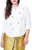 Rachel Roy Plus Size Women's Embellished Blouse
