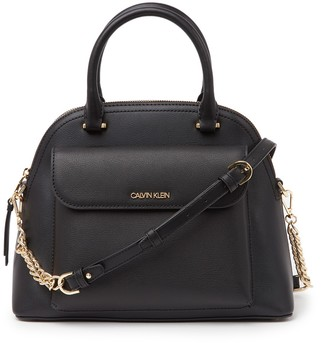 Calvin Klein Chained Daytona Leather Dome Bag