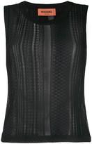 Missoni fine knit sheer panel vest