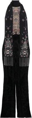 ZUHAIR MURAD Open-back Embellished Tulle Jumpsuit