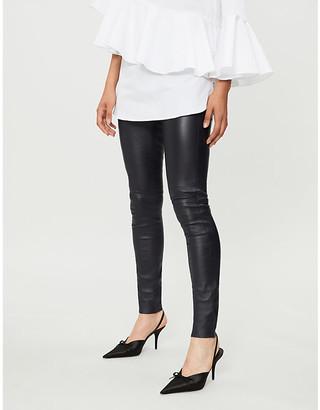 Joseph Mid-rise skinny leather leggings