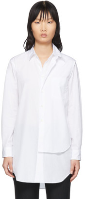 Comme des Garcons White Double Layer Shirt