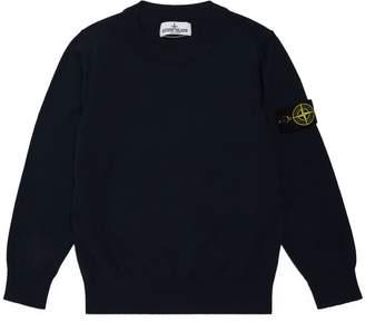 Stone Island Junior Logo Patch Knit Sweatshirt