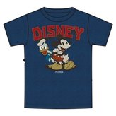 Disney Mickey Mouse Donald Duck Adult Unisex Tee Shirt, Blue