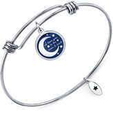 "Unwritten I Love You To The..."" Adjustable Message Bangle Bracelet Bangle Bracelet in Stainless Steel"