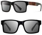 Shwood Men's 'Haystack' 52Mm Polarized Wood Sunglasses - Black/ Elm/ Grey