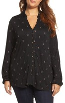 Lucky Brand Plus Size Women's Ditsy Print Shirt
