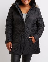 Charlotte Russe Plus Size Quilted Puffer Jacket