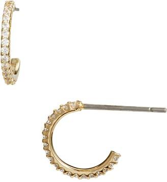 Nordstrom Pave Huggie Hoop Earrings