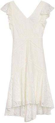 Taylor Stretch Lace Flutter Sleeve Dress
