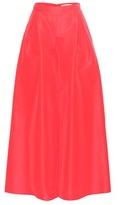Carolina Herrera Silk-taffeta wide-leg trousers