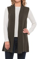 Max Studio Shawl Collar Cardigan Sweater Vest (For Women)
