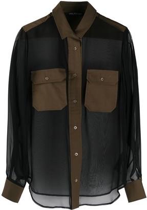 Neil Barrett Multi-Panel Design Shirt