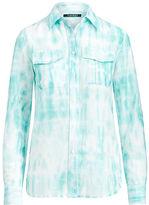 Ralph Lauren Petite Tie-Dye Button-Down Shirt