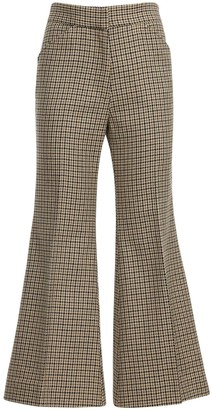 MONCLER GENIUS Flared Wool & Cotton Crop Pants