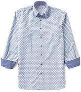Visconti Big & Tall Diamond-Print Dobby Woven Shirt