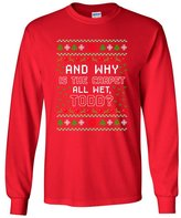 City Shirts Long Sleeve Adult T-Shirt Todd Vacation Carpet Is Wet Movie Ugly Christmas Gift Funny DT