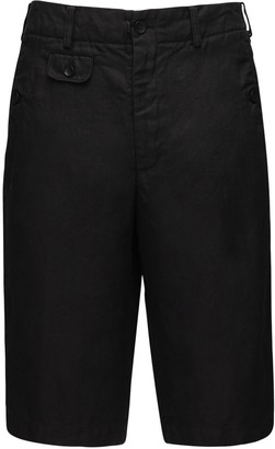 Junya Watanabe Dyed Linen Serge Shorts