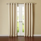 "Best Home Fashion Thermal Insulated Blackout Curtains - Antique Bronze Grommet Top - Beige - 52""W x 84""L - No tie backs (Set of 2 Panels)"