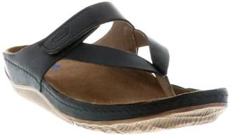 Wolky Leather Adjustable Slide Sandals - Drake