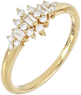 Bony Levy Getty Baguette Crown Ring