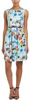 Thumbnail for your product : Ellen Tracy Women's Fit-and-Flare Ground Floral-Print Dress