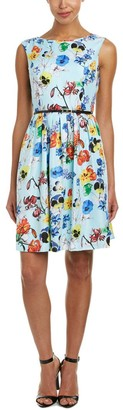 Ellen Tracy Women's Fit and Flare Ground Floral Print Dress