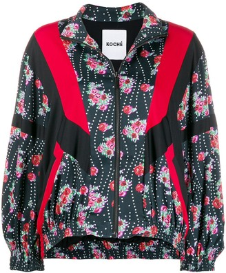 Koché Floral Patchwork Bomber Jacket