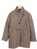 Bonpoint Girls' Plaid Patterned Swing Coat