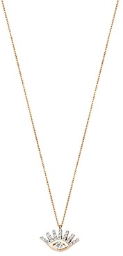 Kismet by Milka 14K Rose Gold Diamond Evil Eye Pendant Necklace, 18