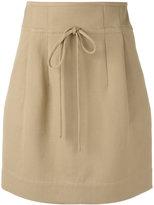 IRO lace-up skirt - women - Cotton/Polyamide - 40