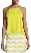 Milly High-Low Trapeze Tank, Citron