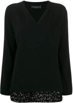 Fabiana Filippi sequin-embellished cashmere jumper
