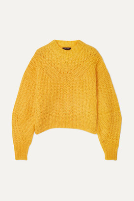 Isabel Marant Inko Mohair-blend Sweater - Mustard
