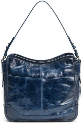 Frye Mel Glazed Leather Hobo Bag