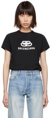 Balenciaga Black and White BB T-Shirt