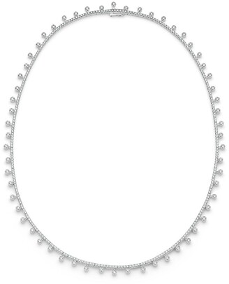 De Beers 18kt white gold diamond Dewdrop necklace