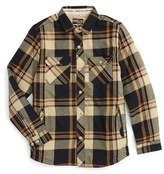 O'Neill Boy's Brawn Fleece Lined Plaid Shirt