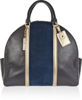 DKNY Bag Snob for The Travel suede and leather tote