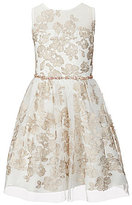 Rare Editions Big Girls 7-16 Floral Embroidered Mesh Dress