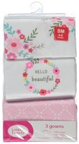 "Luvable Friends Baby Girls' ""Hello Beautiful"" 3-Pack Gowns"
