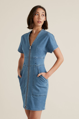 Seed Heritage Mini Zip Through Dress