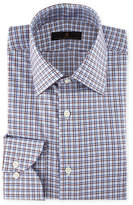 Ike Behar Check-Print Cotton Dress Shirt