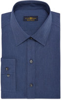 Club Room Estate Classic-Fit Wrinkle Resistant Shadow Blue Solid Dress Shirt