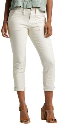 Silver Jeans Utility Crop Mid Rise Slim Pants