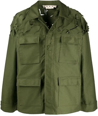 Marni Distressed Military Jacket