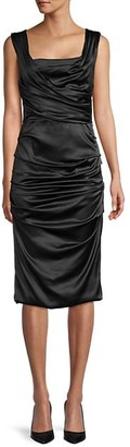 Dolce & Gabbana Ruched Stretch-Silk Sheath Dress