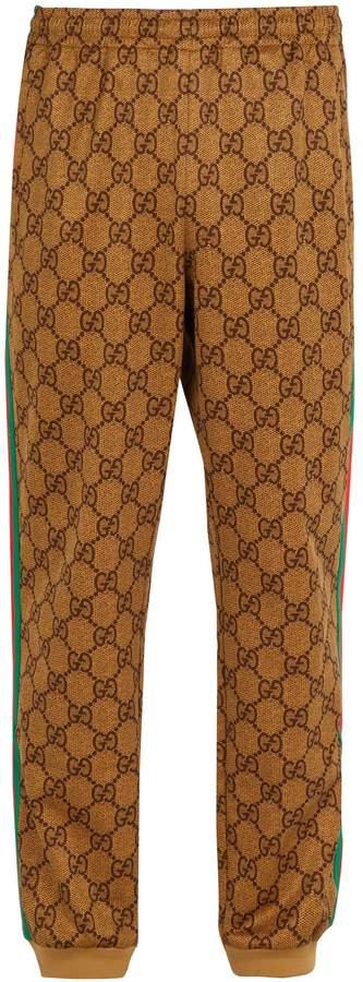 Gucci GG-print side-stripe track pants
