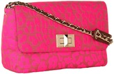 Juicy Couture Gretchen Shoulder Bag (Neon Pink Leopard) - Bags and Luggage